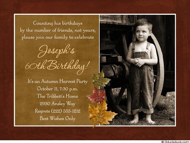 60th Birthday Invitations For Men Free Printable