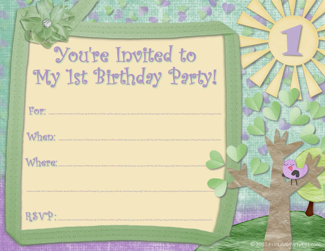 Free Printable First Birthday Invitations For Boy Free