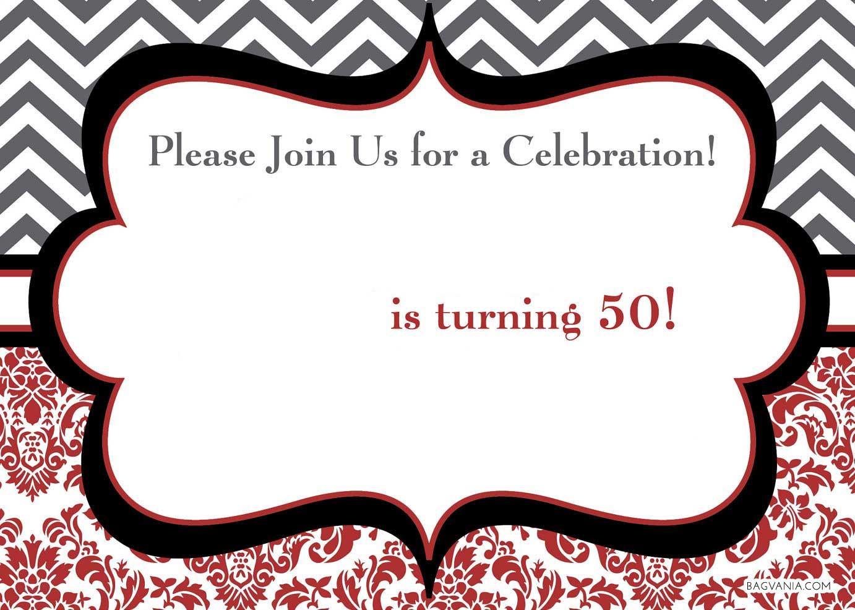 50th Birthday Invitation Template - Menshealtharts