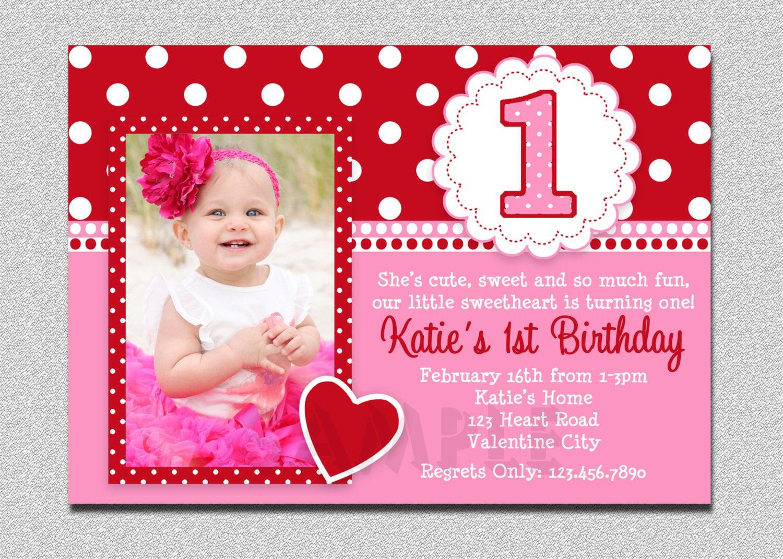 Free Printable 1st Birthday Invitations Girl Free