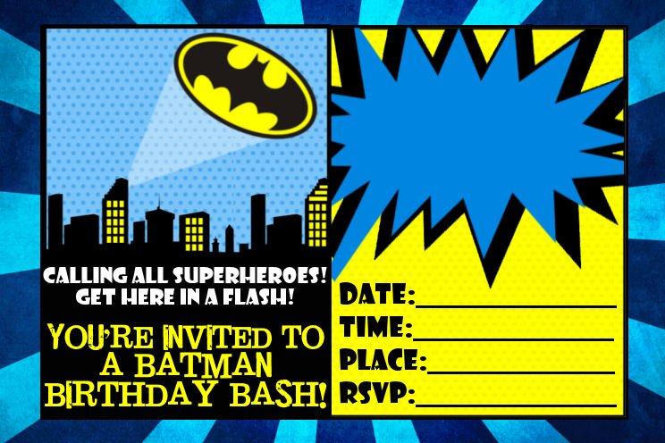 Free Printable Batman Birthday Invitations \u2013 FREE Printable Birthday