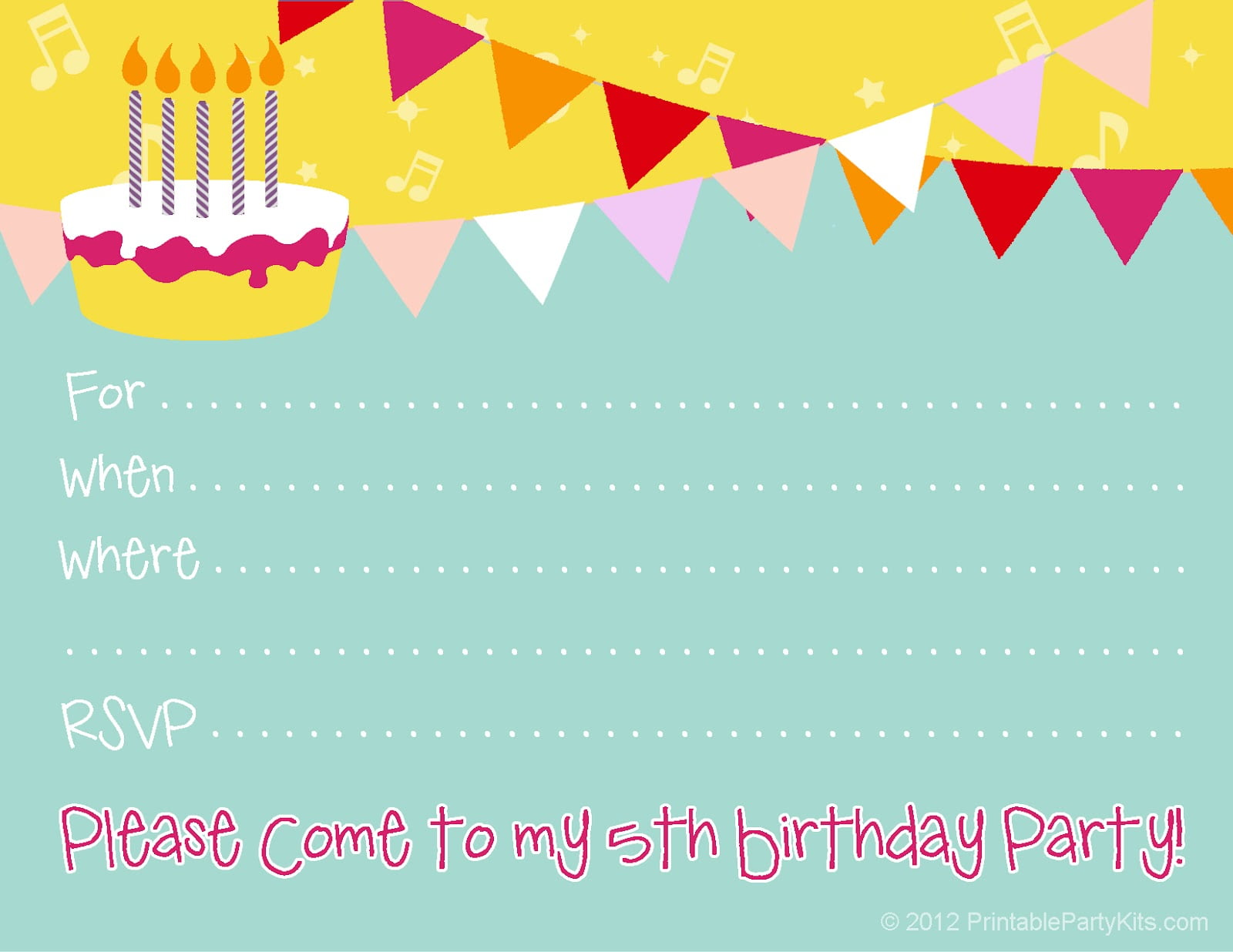 Birthday Party Invitations Free Free Printable Birthday