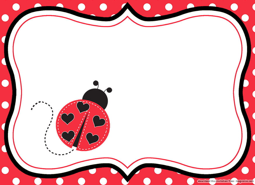 FREE Printable Ladybug Birthday Invitations \u2013 FREE Printable