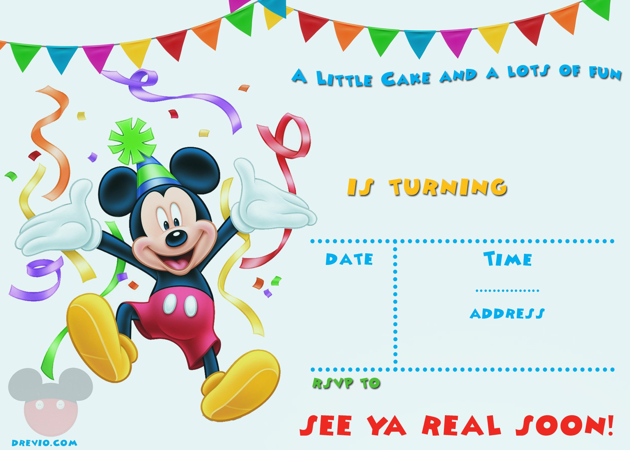 Free Mickey Mouse 1st Birthday Invitations Free