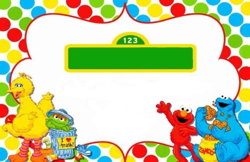 FREE Sesame Street Birthday Invitations \u2013 FREE Printable Birthday