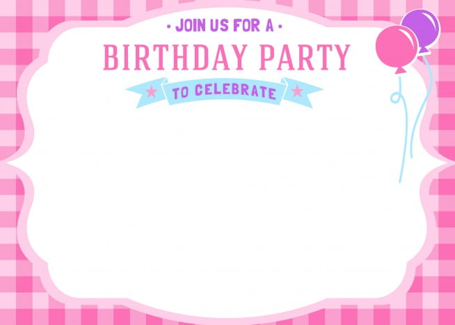 Free Printable Girls Birthday Invitations \u2013 Bagvania FREE Printable - printable girl birthday invitation cards