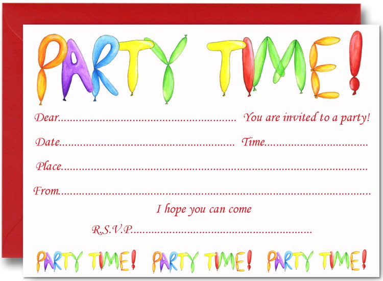 FREE Birthday Party Invites for Kids \u2013 FREE Printable Birthday
