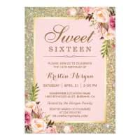 FREE Sweet 16 Birthday Invitations  FREE Printable ...