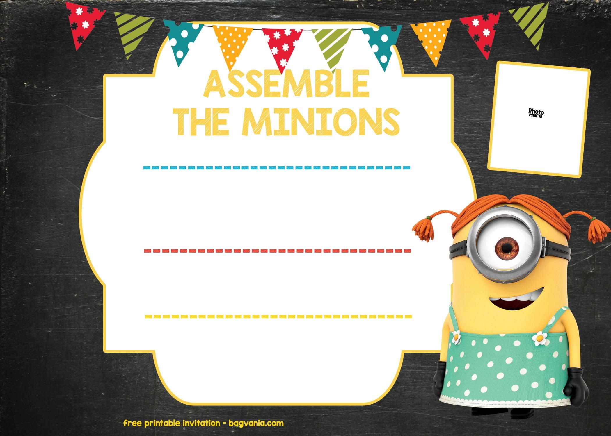 free minion invitation template