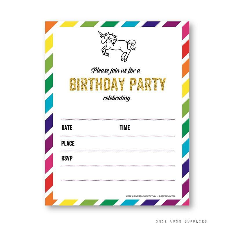 FREE Printable Unicorn Birthday Invitation Template \u2013 Bagvania FREE - free birthday invitation printable