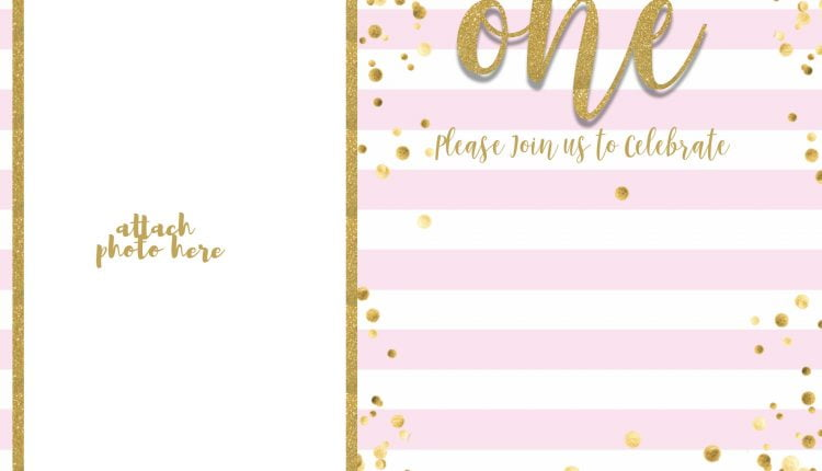 FREE-First-Birthday-Invitation-Girl-Pink-and-Gold-Glitter-Invitation