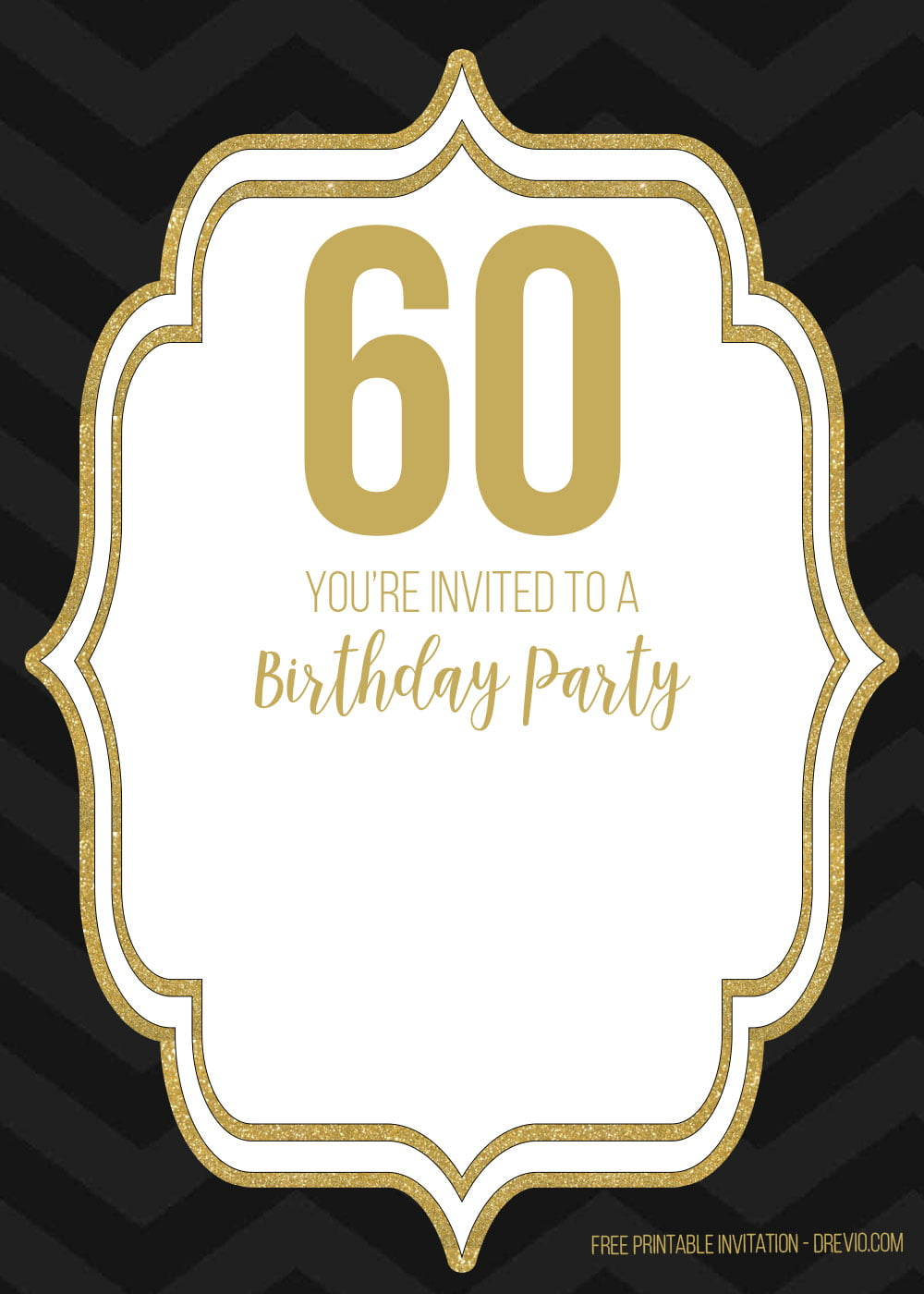 60th birthday template