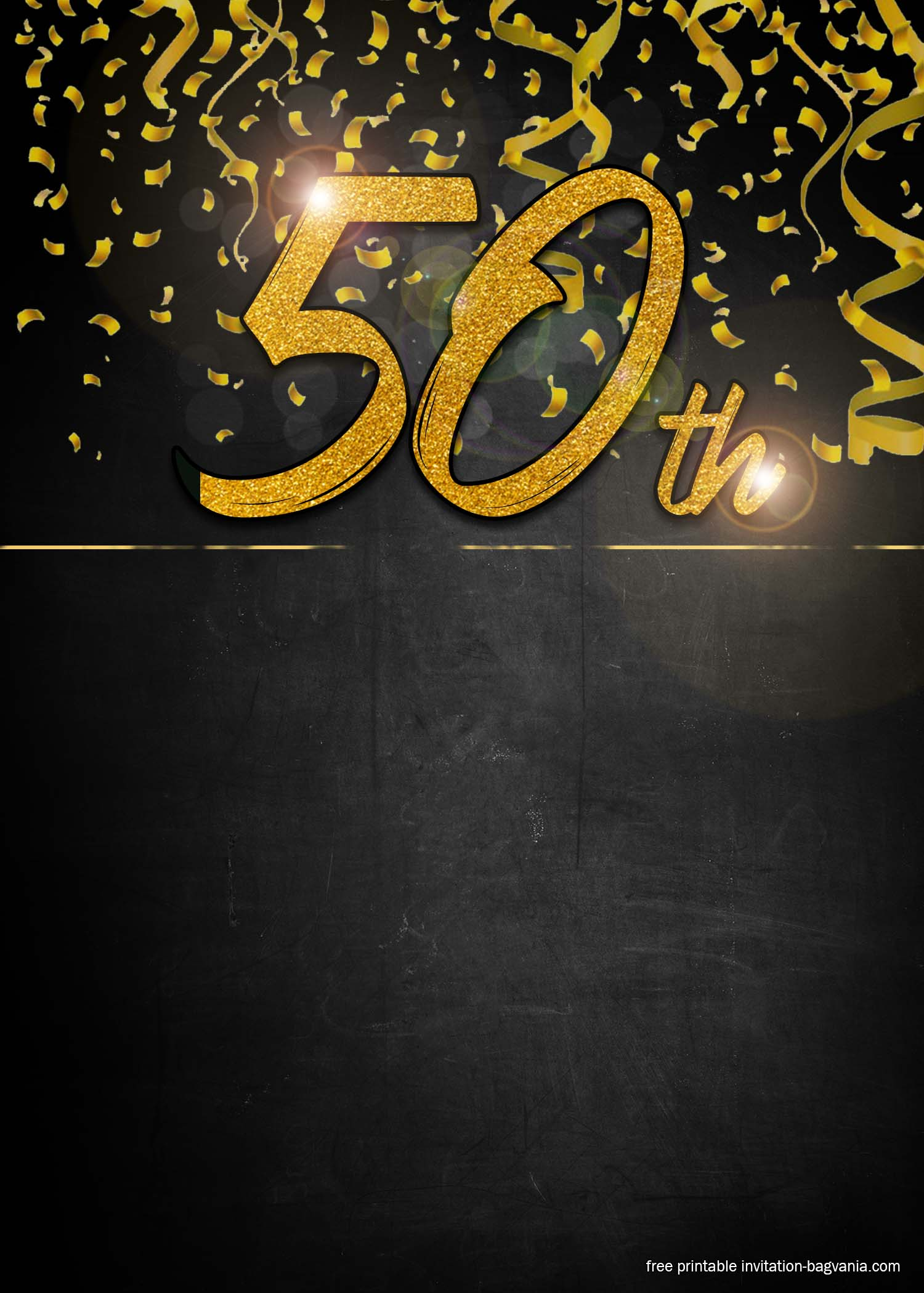 50th birthday invitation template free