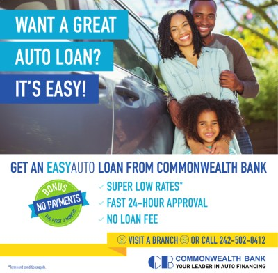 Get an EASYAUTO Loan from Commonwealth Bank • My Deals Today Bahamas