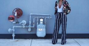 Floral Bomber Jacket + Striped Pant