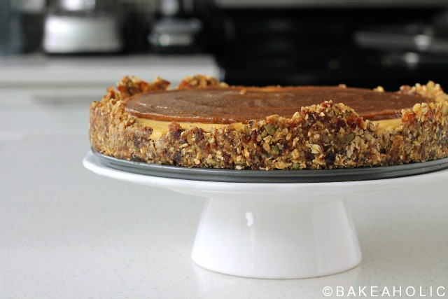 raw vegan pumpkin cheesecake bakeaholic