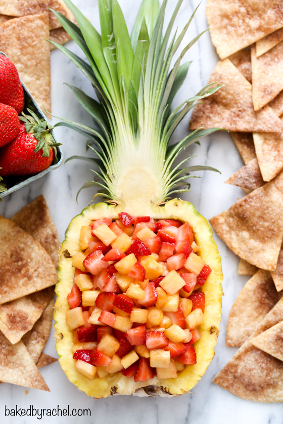 Baked by Rachel » Strawberry Pineapple Fruit Salsa with Cinnamon
