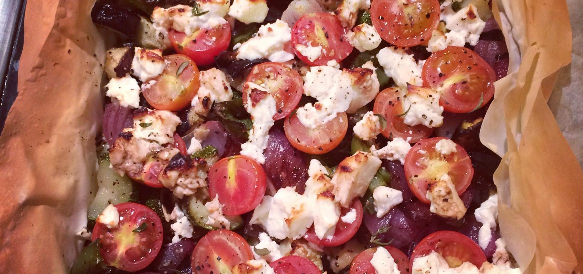 Mediterranean vegetable and feta tart - Baked to Imperfection