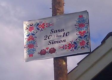Simon och Saras malltavla