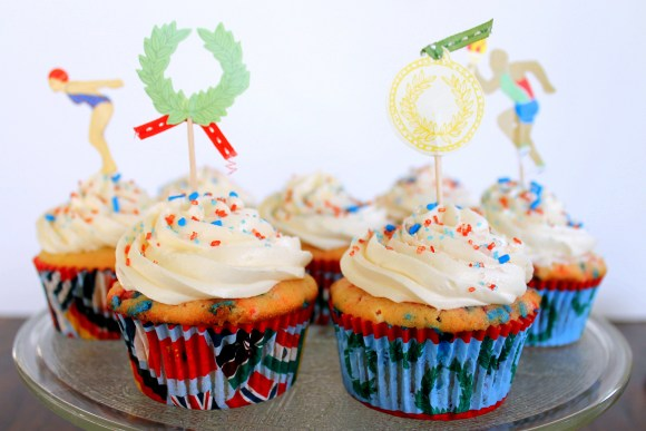 These Homemade Funfetti Cupcakes with Vanilla Buttercream are tender, flavorful, and delicious! These are way better than what you'll find in the box.