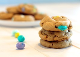 Soft Peanut Butter M&M Cookies