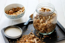 Coconut Macadamia Nut Granola (GF, Vegan + Refined SF)
