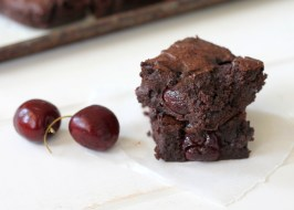 Roasted Cherry Brownies