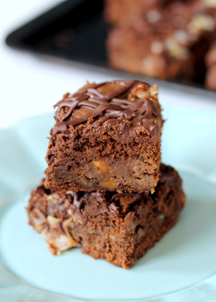 Chocolate Coconut Caramel Bars | Bakerita.com