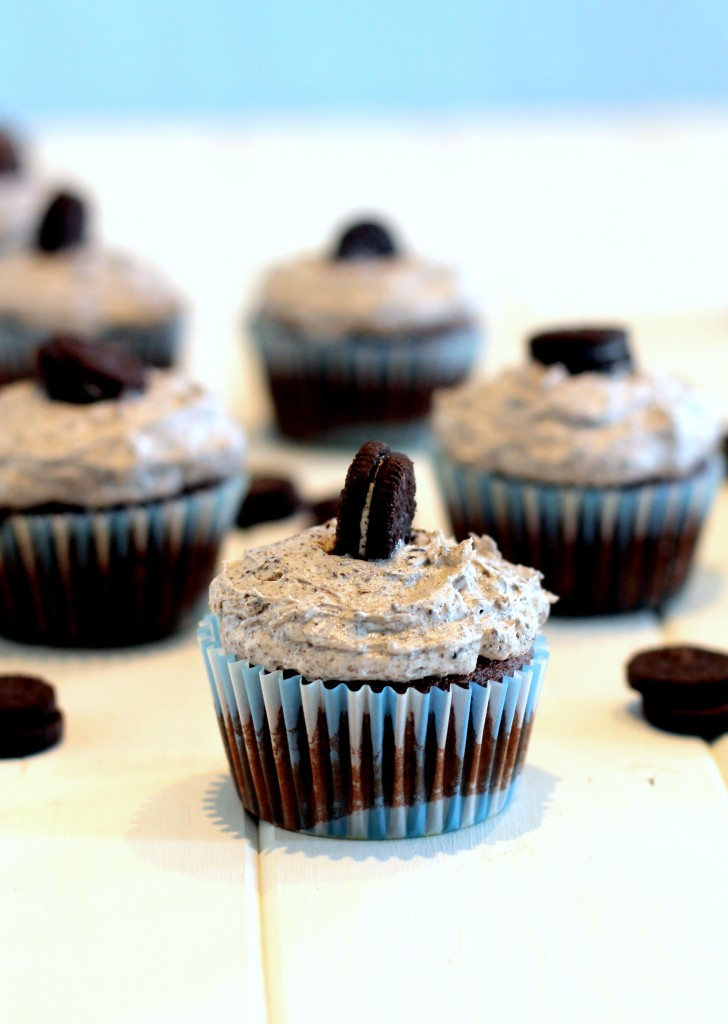 Cookies and Cream Cupcakes from Bakerita's Top 10 Recipes of 2013!