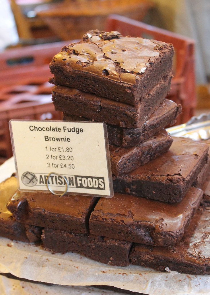 Chocolate Fudge Brownies from Borough Market, London | Bakerita.com