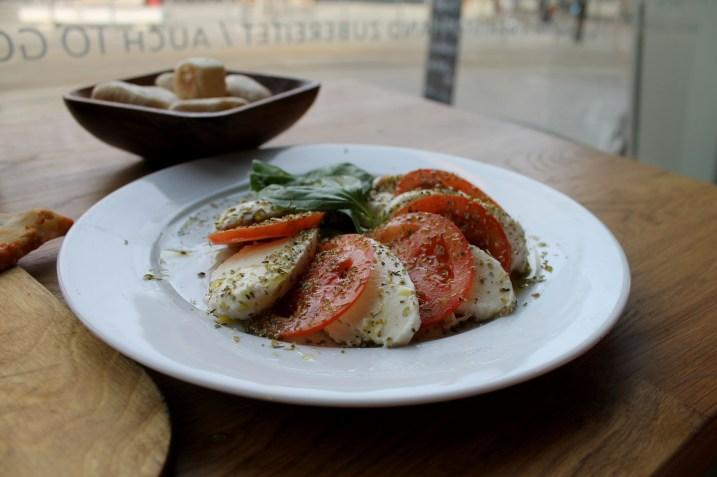 Caprese Salad at La Vespa in Berlin Germany | Bakerita.com