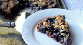Blueberry Crisp Tart with Oatmeal Crust (GF, Vegan)
