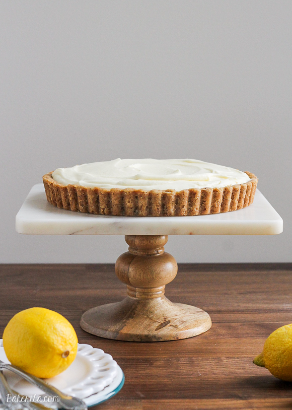 This simple Frozen Lemon Cream Tart with Browned Butter Crust is rich in texture and flavor, and super refreshing on a hot day! You'll love this easy recipe.