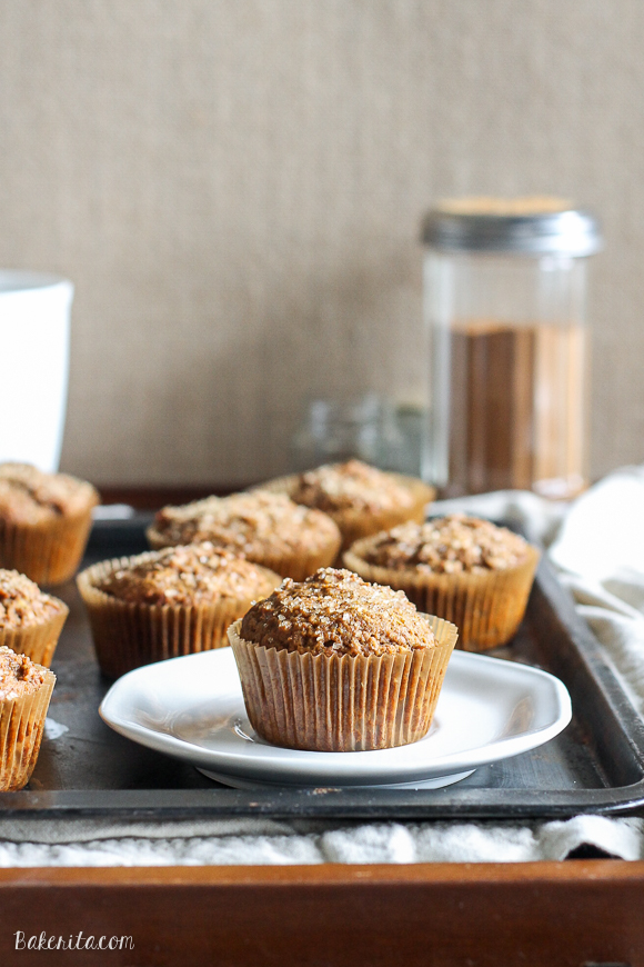 These Vegan Pumpkin Spice Latte Muffins are your favorite fall drink recreated in soft, sweet muffin form! These are the best comforting fall breakfast or snack.