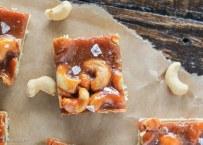 Cashew Caramel Shortbread Bars