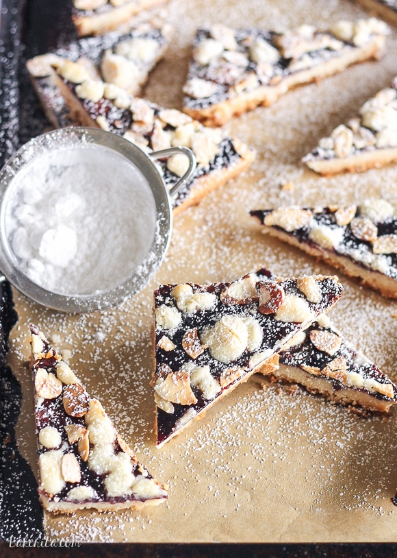 Jam Shortbread are made with just four ingredients, but they're delicious and impressive enough to serve to guests or display on a holiday cookie platter. This easy recipe will become a holiday favorite.