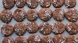 Chocolate Mint Shortbread Cookies