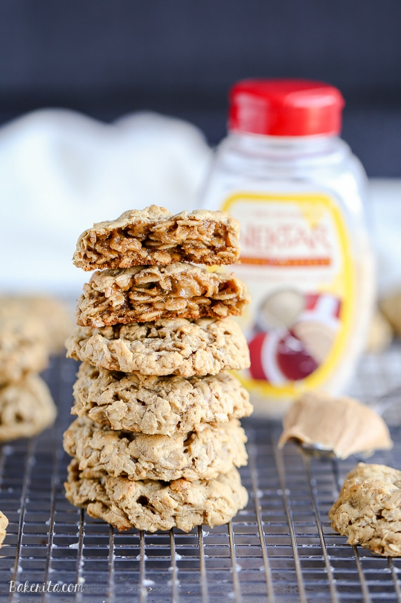 These Peanut Butter Oatmeal Cookies are incredibly soft and naturally gluten-free. This simple recipe will become a quick favorite for any peanut butter fans.