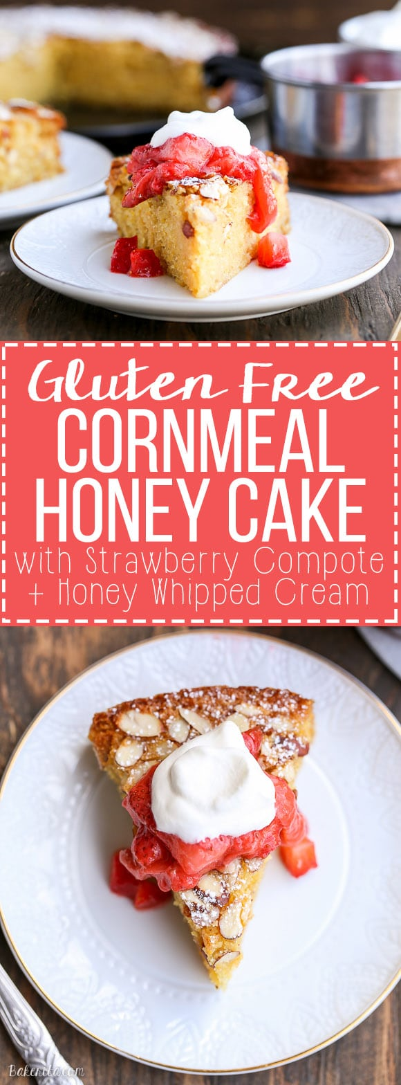 Gluten Free Honey Cornmeal Cake with Strawberry Compote ...
