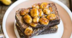Banana Bread French Toast with Caramelized Bananas (Gluten Free, Paleo + Dairy Free)