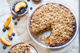 Blueberry Nectarine Pie with Almond Crumble (Gluten Free + Refined Sugar Free)