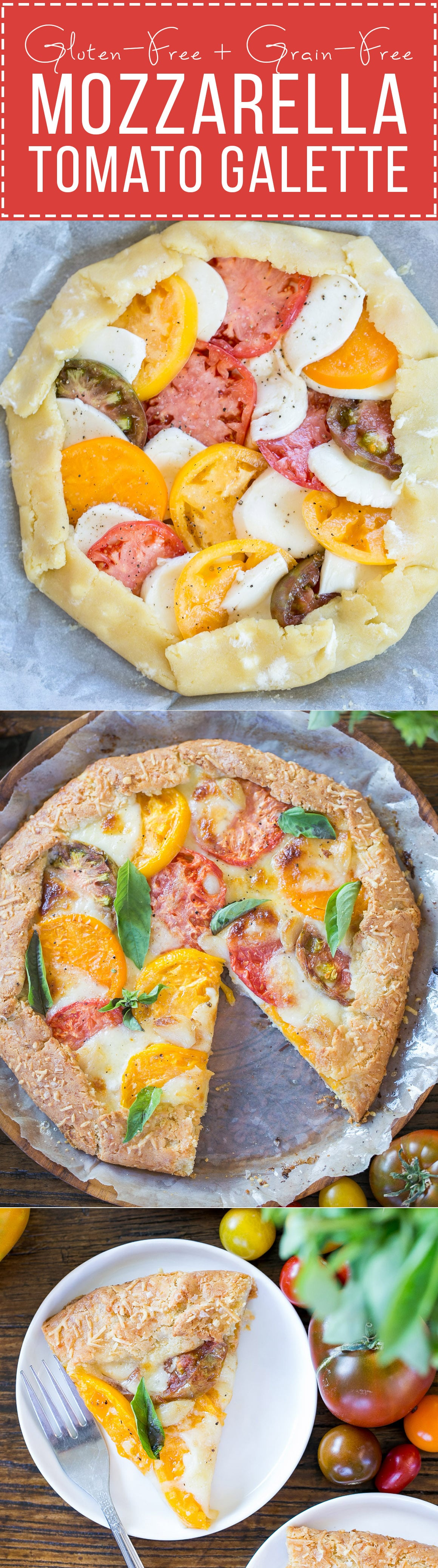 Mozzarella Heirloom Tomato Galette with Parmesan Crust ...
