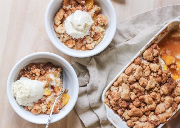 Peach Snickerdoodle Crumble Recipe - only three ingredients!