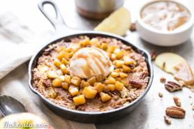 Apple Cinnamon Skillet Cookie (Gluten Free + Paleo)