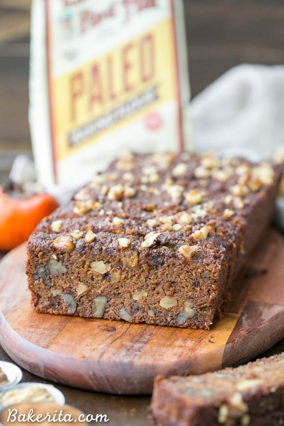 ... persimmon bread is spiced with cinnamon, ginger and allspice and makes