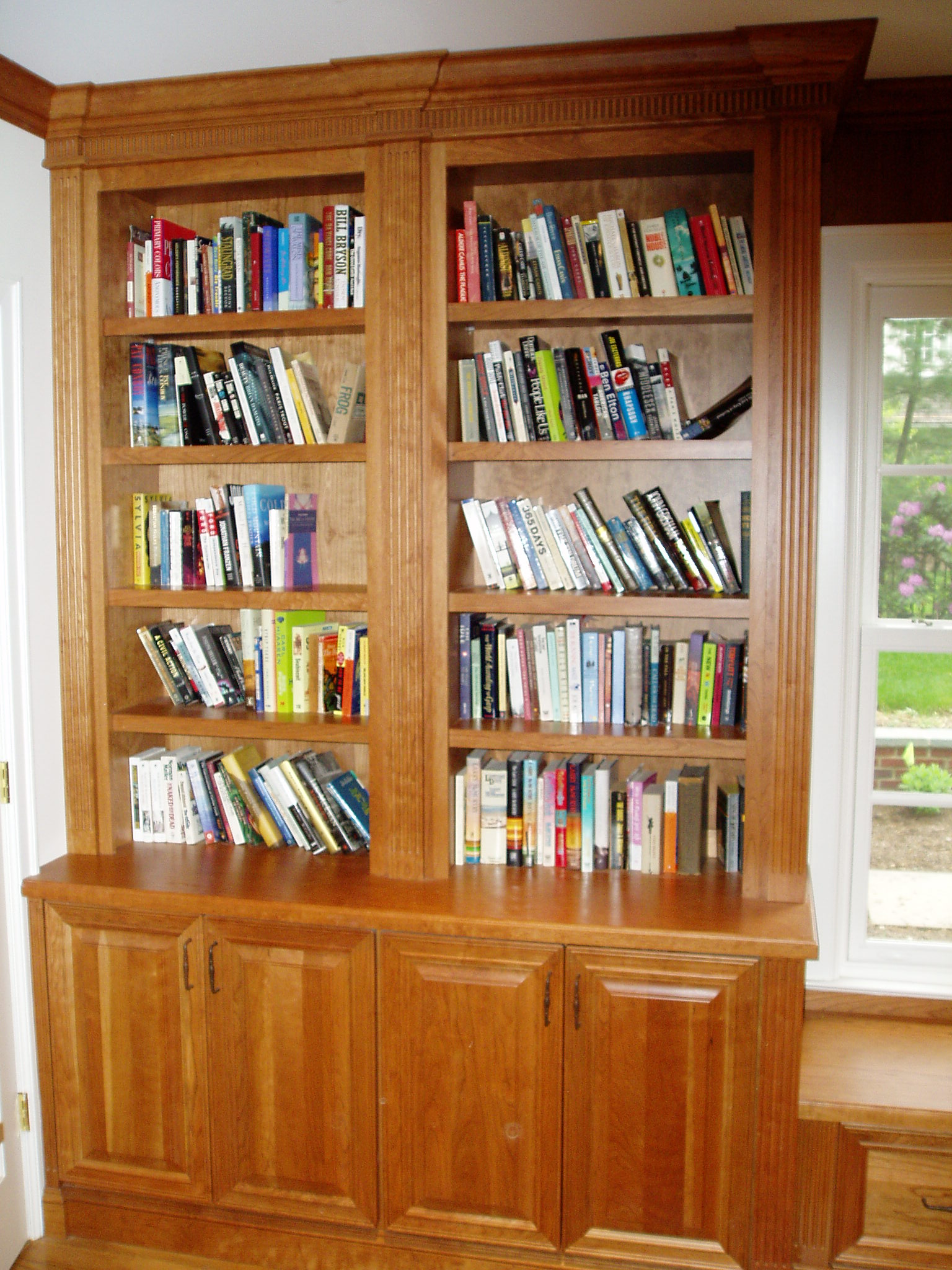 Bookcases Book Case Wooden Bookcase Library Crown Molding