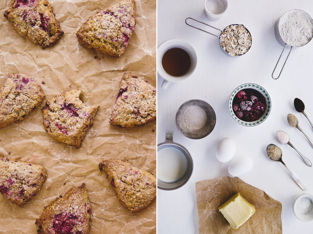 scones apple and oat scones rasberry oatmeal scones black and red