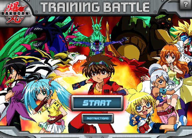 BAKUGANtrng start Bakugan Training Battle