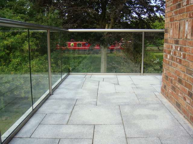 Curved Glass Balustrade Cheshire Case Study