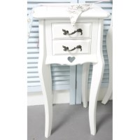White Dressing Table, Vanity Mirror, Stool and 2 Bedside ...